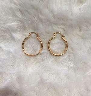 Rosegold pair of earrings