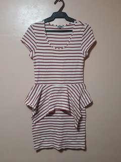 Peplum Striped Dress