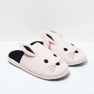 Pink Bunny Slippers Forever 21