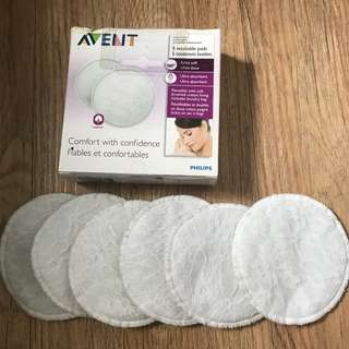 Avent Breast Pad Reusable/Washable 6pcs