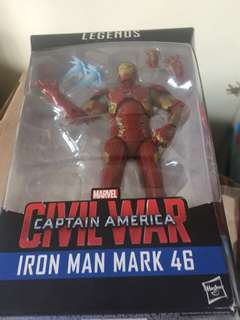 Marvel legends Iron Man Civil War Mk 46 no BAF