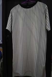 Black & white baseball dress