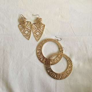 F21 Gold Earrings - Set of 2