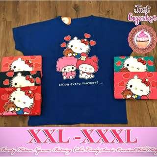 Atasan XXL - XXXL Beauty Katun Nyaman Batwing Color Lovely Sanrio