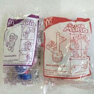 McDonald's 麥當勞 2014年 絕版 Super Mario 玩具共2個