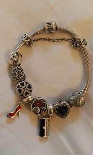 "Rush Sale Pandora Bracelet 18"" with Charms"