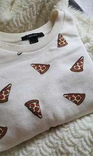 Forever 21 Pizza Oversized sweatshirt