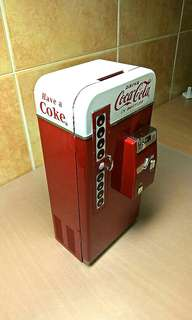 Coca Cola Vending Machine Coins Bank ( Made of Full Matel  )
