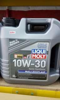 LIQUI MOLY 10W30 10W40 MoS2 Semi Synthetic Engine Oil