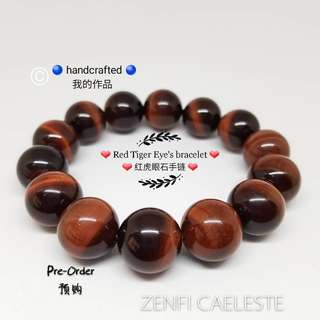 ZENFI CAELESTE Tiger Eye's handmade bracelet. Natural gemstone. Healing Crystal. Fashion Jewellery.