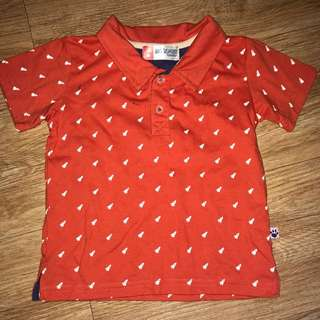 Big & Small Polo Shirt Orange