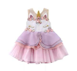 Girl's unicorn dress
