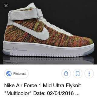 Authentic Nike Air force Flyknit 'Multicolor'