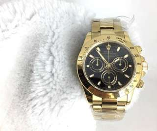 Rolex Daytona full gold black dial