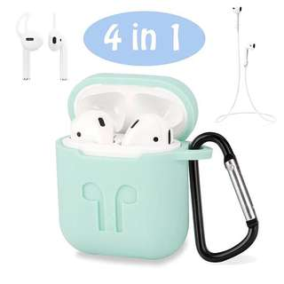 Airpods silcone case 4 in 1 carabiner lock