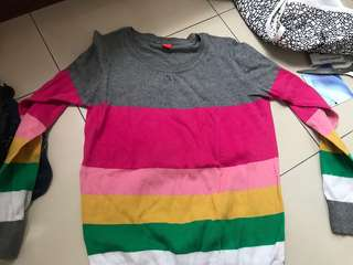 rainbow long sleeve sweater (kickers)