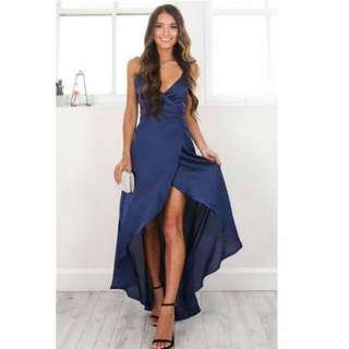 showpo the countess dress in midnight blue