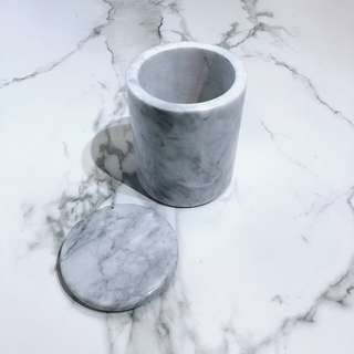 Marble Canister With Lid