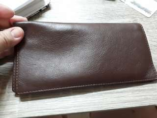 Authentic leather wallet checkbook cover etc