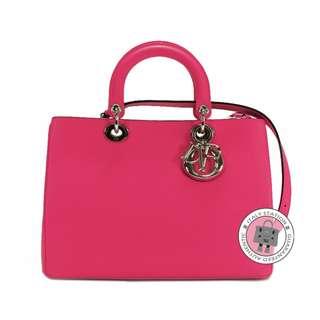 (NEW) DIOR M0902 PVPU DIORISSIMO CALFSKIN SMALL TOTE BAG SHW, ROSE HOT PINK / M02P 全新 手袋 桃紅色