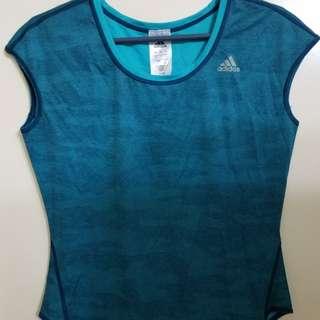 全新 女裝Adidas 背心 湖水藍 最後一件