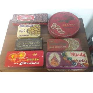 Vintage chocolate tins