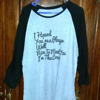 Kaos raglan / kaos wanita / baju wanita