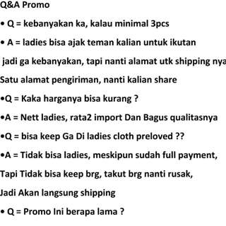 Q & A promo dress free ongkir