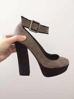 Novo suede heels