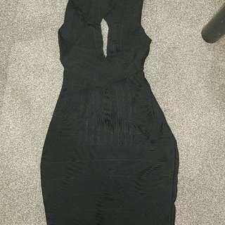 Black bandage dress rayon fitted sexy