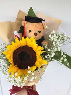 Sunflower Graduation Bouquet