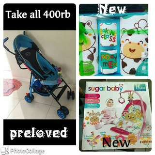Pliko adventure 2, Sugarbaby infantseat,kiddy set handuk