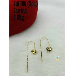 18K SPL SAUDI GOLD TICTAC EARRINGS '