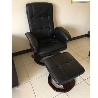 Synthetic Leather Recliner / Glider Chair with Foot rest