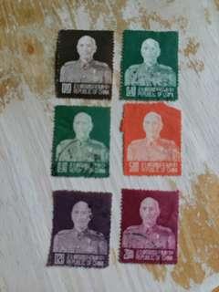 中國郵票  已銷郵票6枚
