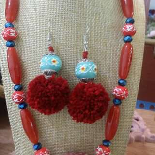 Set Necklace with Earring