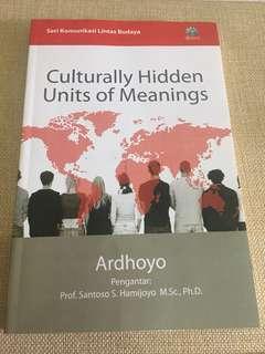 Buku Culturally Hidden UNITS OF Meanings (seri komunikasi lintas budaya) bahasa indonesia