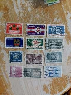 加拿大郵票 已銷郵票 12枚