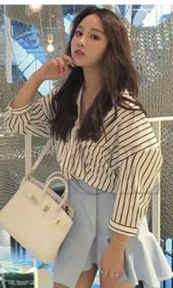 vneck stripes blouse
