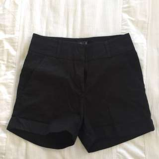 High waisted black shorts glassons