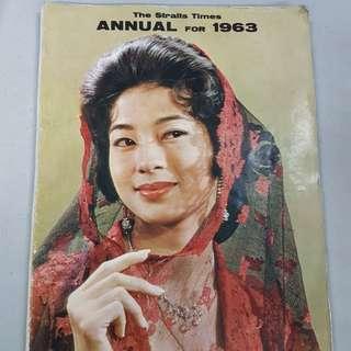 1963 Straits Times Annual Magazine