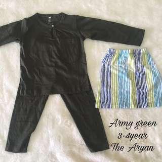 Baju Melayu Baby+sampin