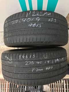 275/40/19 pzero rft used tyre $50