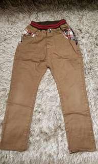 男童啡色型格長褲