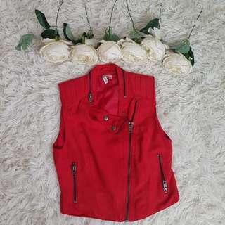 H&M Suede Red Vest