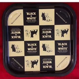 Vintage 1950s Black & White tray