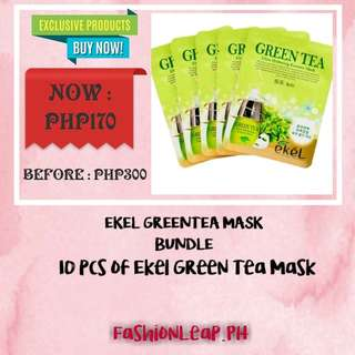 Ekel Green Tea Mask Bundle