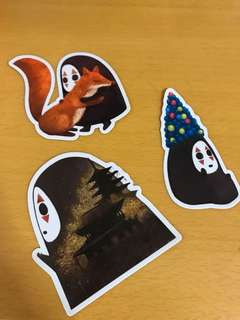 No Face waterproof laptop/luggage stickers