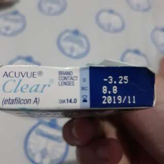 Acuvue Monthly soflens