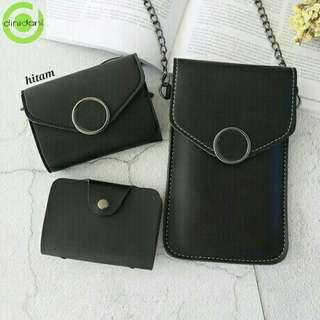 Pouch handphone 3in1